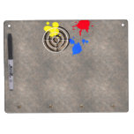 Rusted Metal Grate with Paintball Gunsight Dry Erase Whiteboards