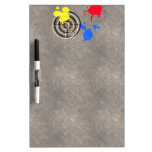 Rusted Metal Grate with Paintball Gunsight Dry Erase Whiteboard