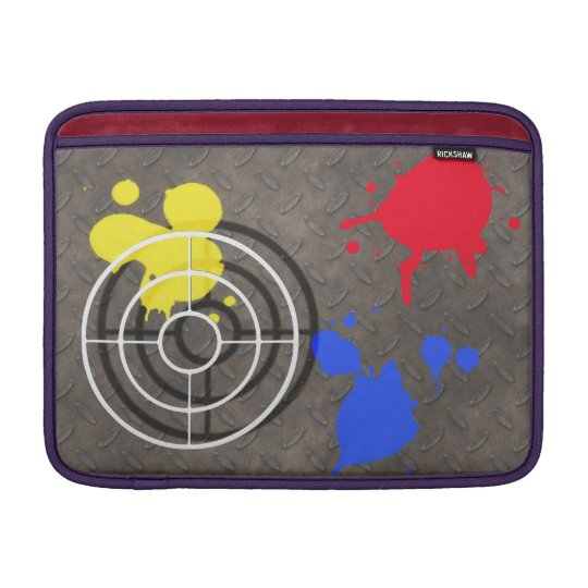 Rusted Metal Grate with Paintball Gunsight MacBook Air Sleeve