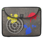 Rusted Metal Grate with Paintball Gunsight Sleeve For MacBook Pro