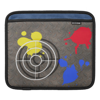 Rusted Metal Grate with Paintball Gunsight Sleeves For iPads