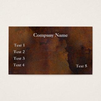 Rusted Metal Look Business Card