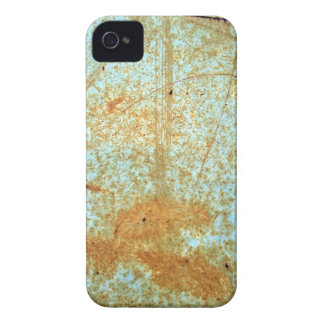 Rusted Metal Scratches in Blue Paint iPhone 4 Cases