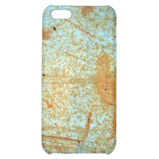 Rusted Metal Scratches in Blue Paint Case For iPhone 5C