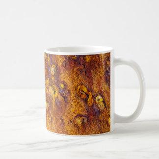 Rusted metal surface coffee mug