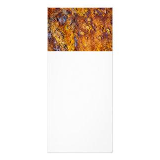 Rusted metal surface rack card