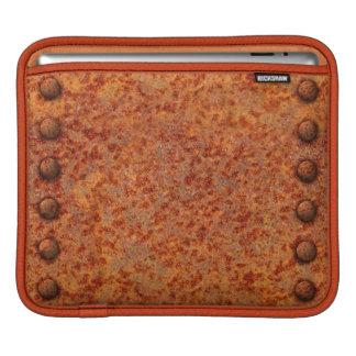 Rusted Metal Surface w/Rivets Design iPad Sleeve