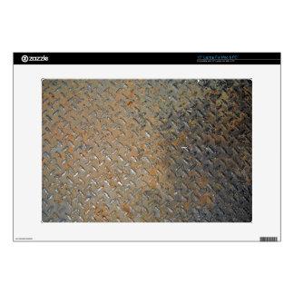 "Rusted Metal Tread Texture 15"" Laptop Skin"