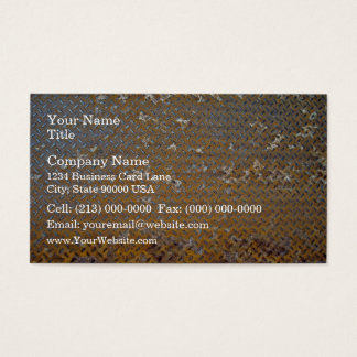 Rusted Metal Tread Texture Business Card