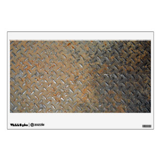 Rusted Metal Tread Texture Wall Sticker
