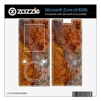 Rusted Microsoft Zune (4/8GB) skin Decal For Zune