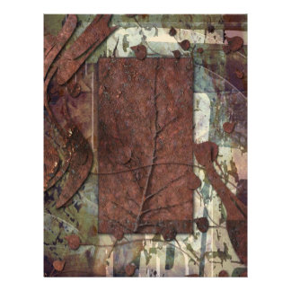 Rusted Nature Scrapbook Papers Letterhead