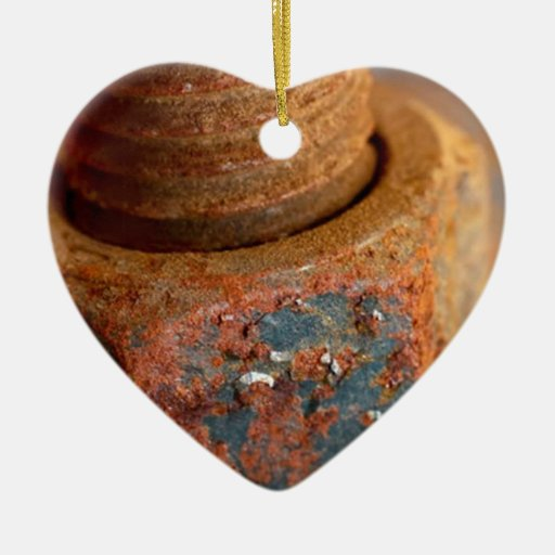 Rusted nuts and bolts christmas tree ornament zazzle