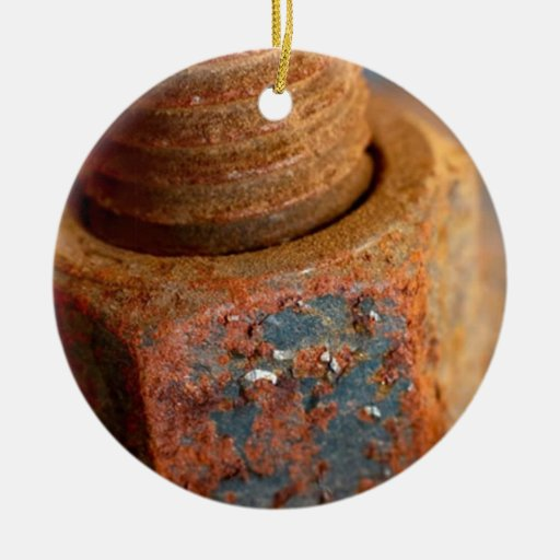 Rusted nuts and bolts christmas tree ornaments zazzle