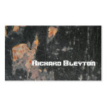 Rusted painted, corroded metal, texture custom business card template
