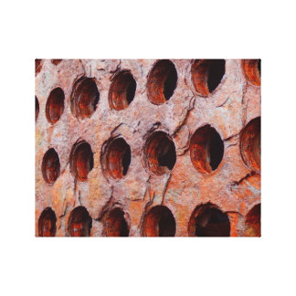 Rusted Perforated Metal Canvas Print