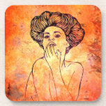 Rusted Portrait Coasters