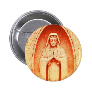 Rusted Prayer Pinback Button