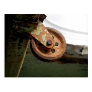Rusted Pulley Postcard