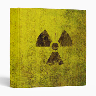 Rusted Radioactive Symbol 3 Ring Binder