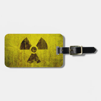 Rusted Radioactive Symbol Tag For Bags