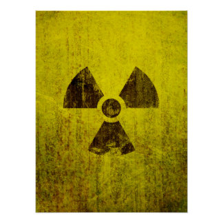 Rusted Radioactive Symbol Poster
