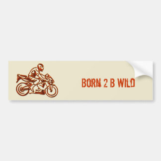 Rusted Rider on Motorcycle Bumper Sticker