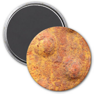 Rusted Riveted Metal Large Round Magnet