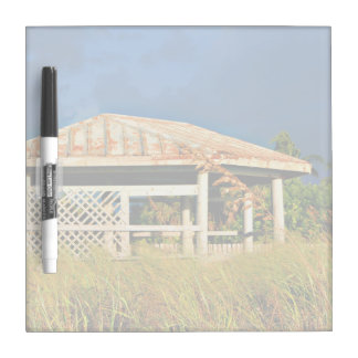 rusted roof beach dune building in Florida Dry-Erase Board
