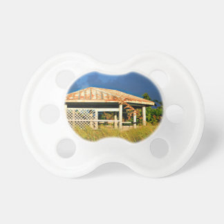 rusted roof beach dune building in Florida Pacifier