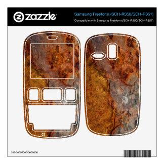 Rusted Samsung Freeform SCH-R350 SCH-R351 skin Samsung Freeform Decals