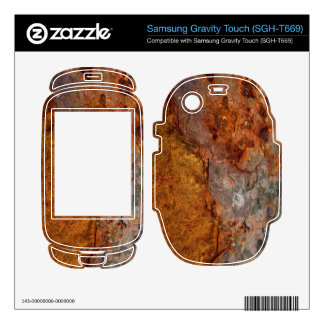 Rusted Samsung Gravity Touch (SGH-T669) skin Samsung Gravity Touch Skin