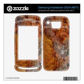 Rusted Samsung Impression (SGH-A877) skin Samsung Impression Decals