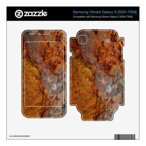 Rusted Samsung Mesmerize i500 Galaxy S skin Samsung Vibrant Skins