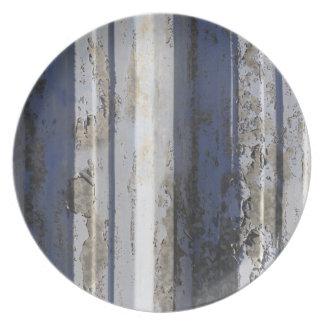 Rusted sheet iron melamine plate
