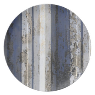 Rusted sheet iron party plates