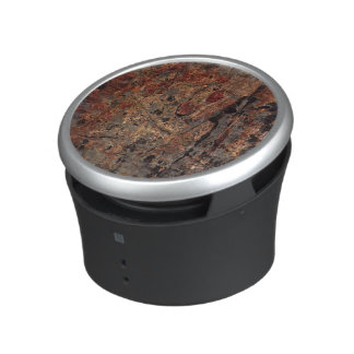 rusted stone slab with greys bluetooth speaker