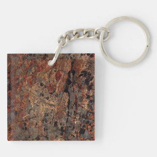 rusted stone slab with greys keychain
