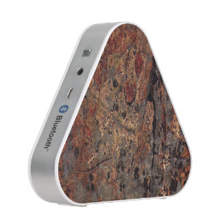 rusted stone slab with greys speaker