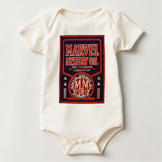 Rusted vintage oil sign reproduction baby bodysuits