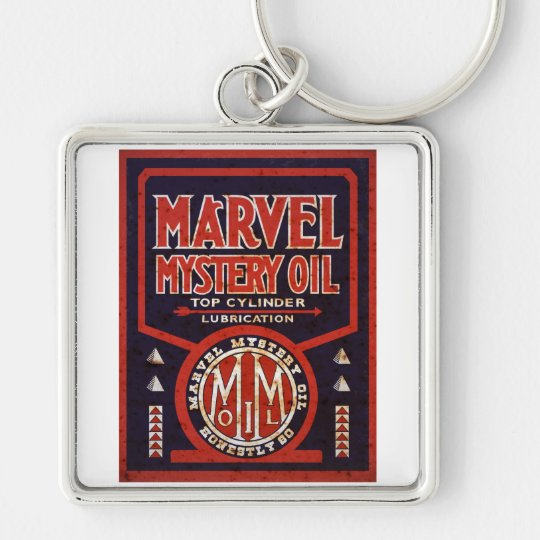 Rusted vintage oil sign reproduction keychain