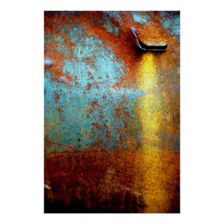Rusted Water Stain Poster