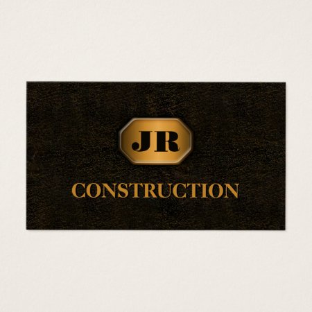 Vintage Wrought Iron and Gold Building and Construction Business Cards