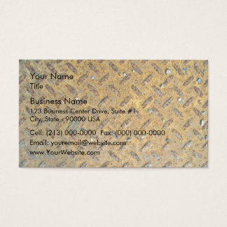 Rusted Yellow Metal Tread Texture Business Card