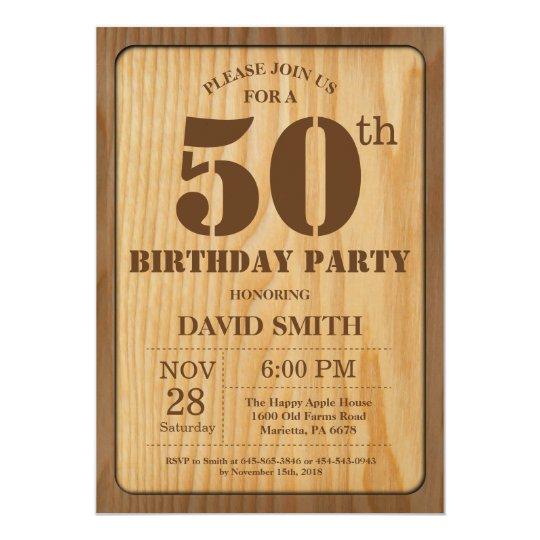 Rustic 50th birthday invitation vintage wood zazzle rustic 50th birthday invitation vintage wood filmwisefo