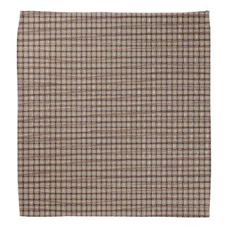 Rustic Abstract Burlap Brown Tan Weave Bandanas