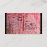Rustic Abstract Designer Editable Custom Business Card