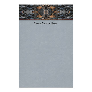 Rustic Abstract Tree Bark Stationery
