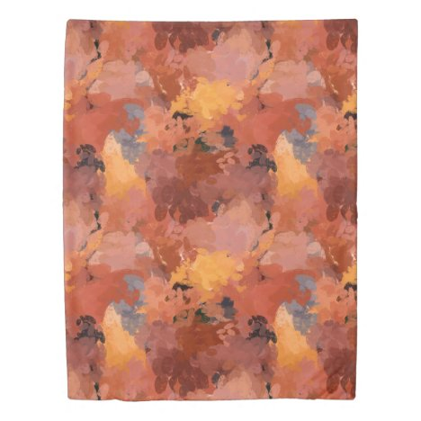 Rustic Abstract Watercolor Autumn Art Duvet Cover