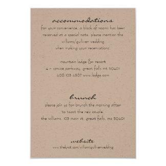 Rustic Additional Information Invitation Insert